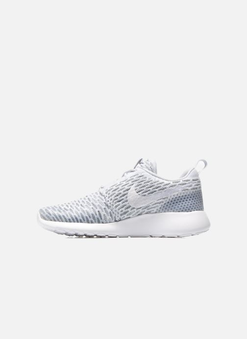 Baskets Nike Wmns Roshe One Flyknit Gris vue face
