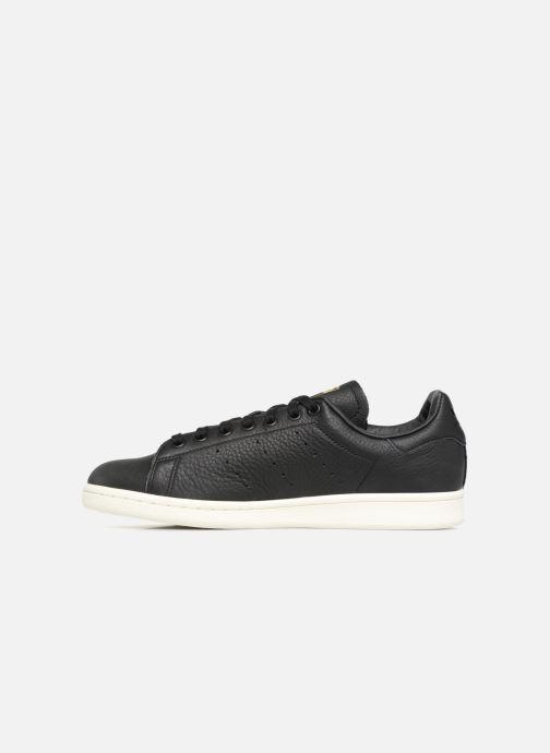 Sneaker Adidas Originals Stan Smith Premium schwarz ansicht von vorne