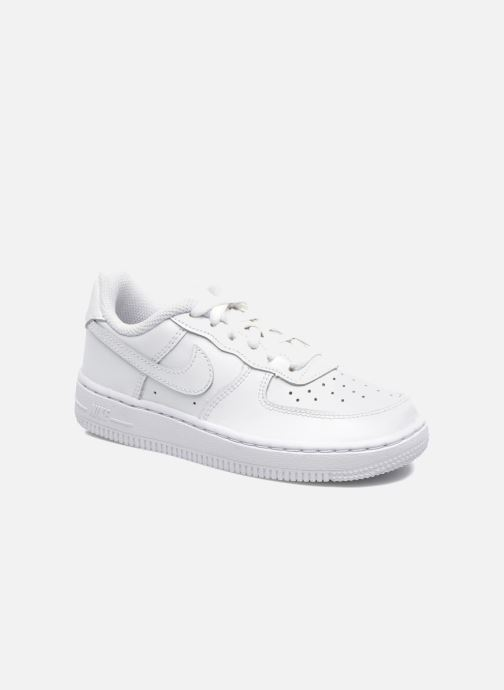 Baskets Nike Air Force 1 (Ps) Blanc vue détail/paire