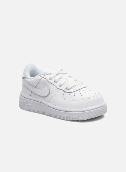 Baskets Nike Air Force 1 (Td) Blanc vue détail/paire