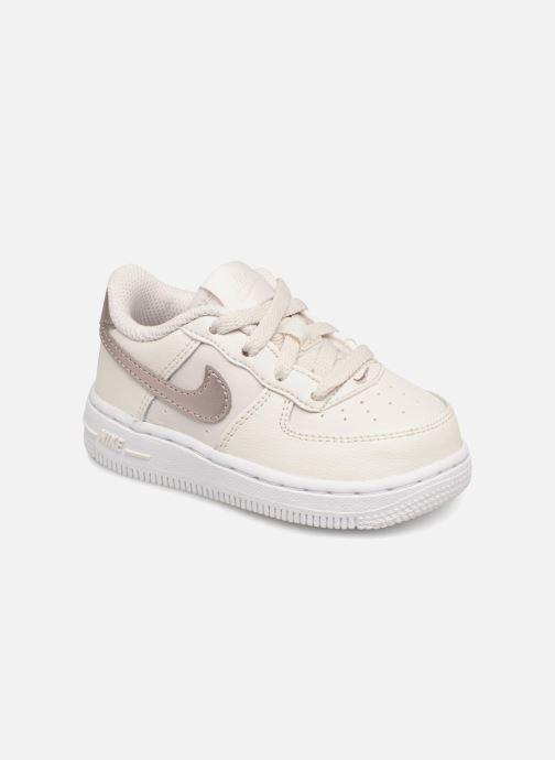Baskets Nike Air Force 1 (Td) Blanc vue détail/paire