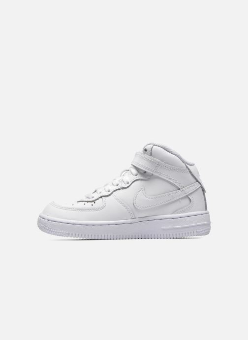 Sneakers Nike Air Force 1 Mid (PS) Wit voorkant