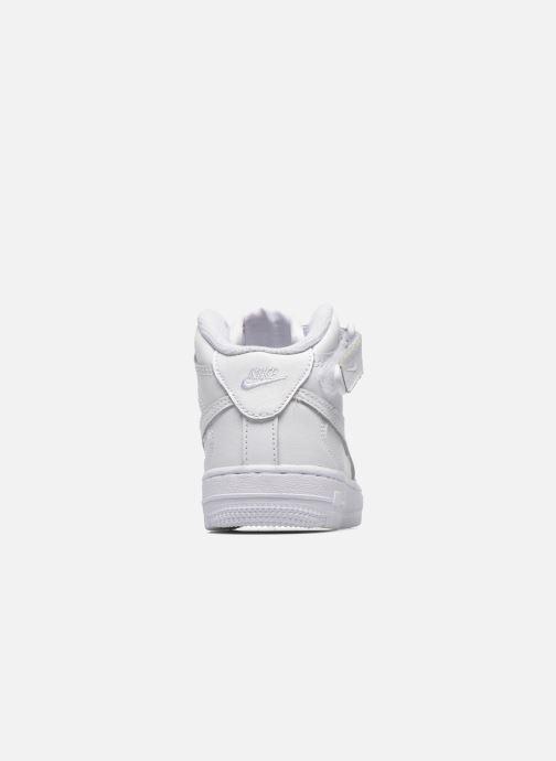 Baskets Nike Air Force 1 Mid (PS) Blanc vue droite