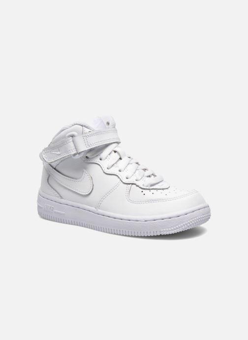 Baskets Nike Air Force 1 Mid (PS) Blanc vue détail/paire