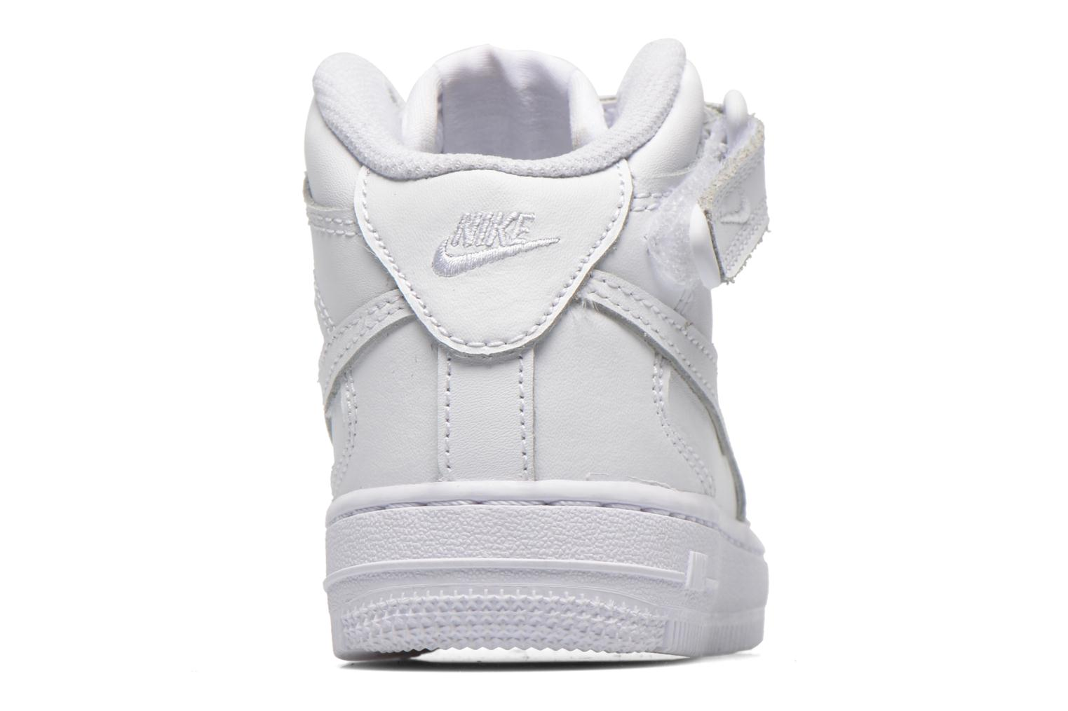 Sneakers Nike Air Force 1 Mid (PS) Wit rechts