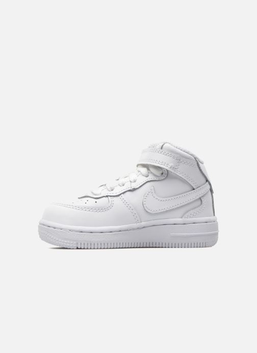 Baskets Nike Air Force 1 Mid (TD) Blanc vue face