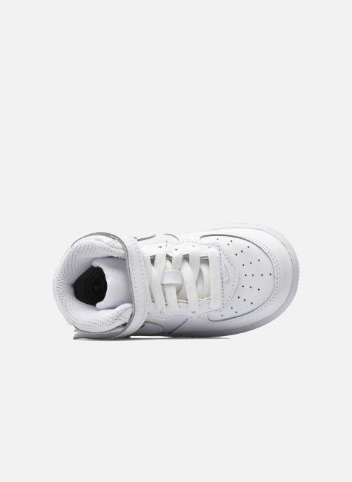 Sneaker Nike Air Force 1 Mid (TD) weiß ansicht von links