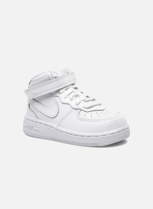 Baskets Nike Air Force 1 Mid (TD) Blanc vue détail/paire