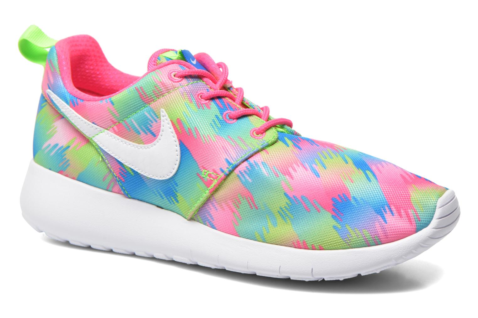 Baskets Nike NIKE ROSHE ONE PRINT (GS) Multicolore vue détail/paire