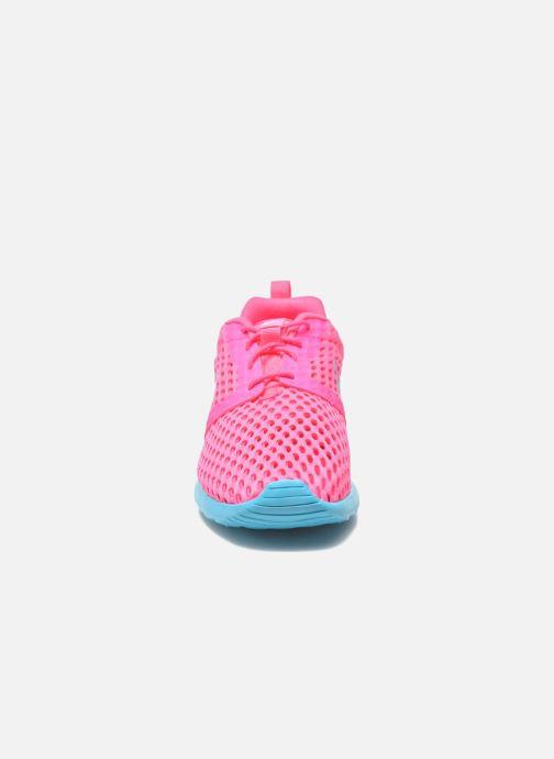 Sneakers Nike ROSHE ONE FLIGHT WEIGHT (GS) Rosa modello indossato