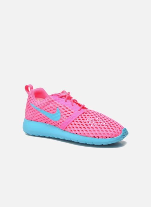 Deportivas Nike ROSHE ONE FLIGHT WEIGHT (GS) Rosa vista de detalle / par