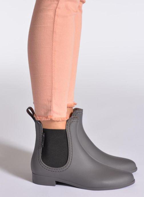 Bottines et boots Be Only Beatle Gris vue bas / vue portée sac