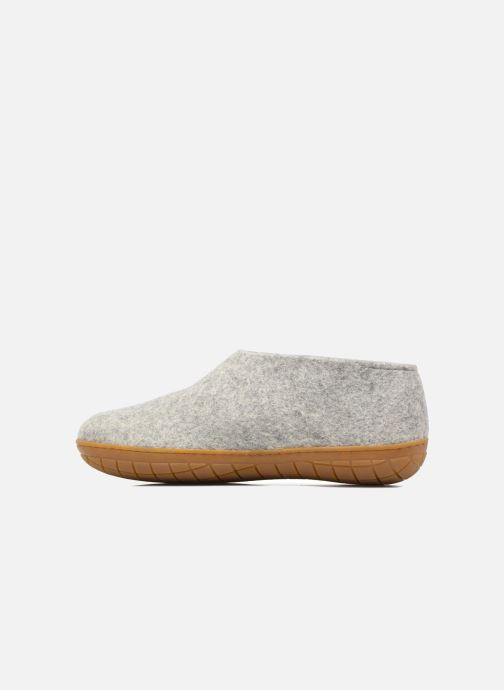 Chaussons Glerups Porter Gomme M Gris vue face