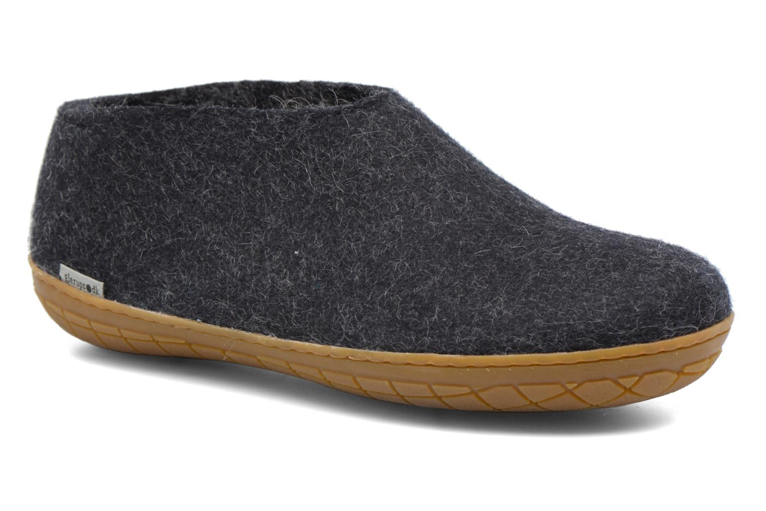Slippers Glerups Porter Gomme M Black detailed view/ Pair view