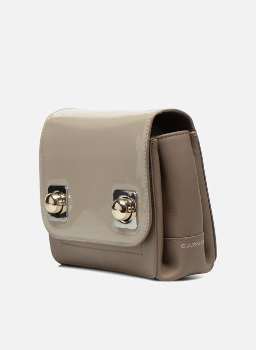 Handbags Carven MERCER Porté travers Beige model view
