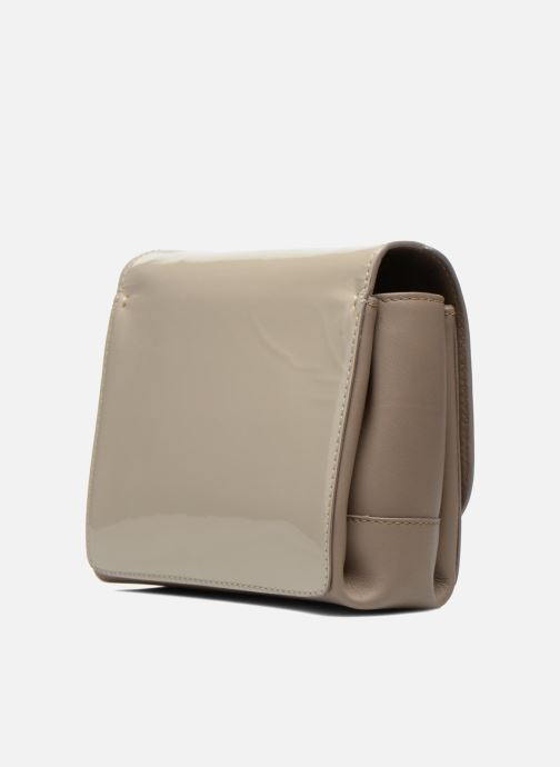Handbags Carven MERCER Porté travers Beige view from the right