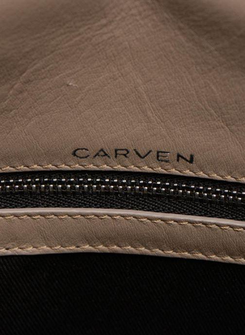 Handbags Carven MERCER Porté travers Beige back view