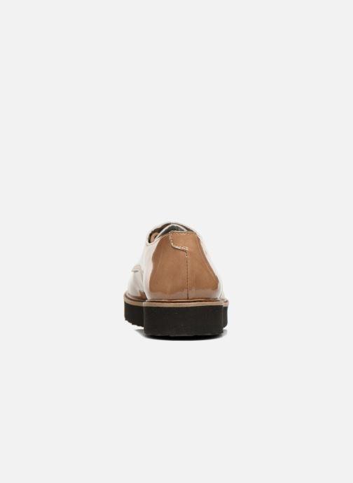 Chaussures à lacets Ippon Vintage James gloss Beige vue droite