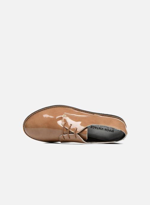 Scarpe con lacci Ippon Vintage James gloss Beige immagine sinistra