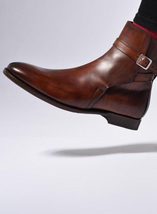 Bottines et boots Marvin&Co Luxe Wetrok - Cousu Goodyear Marron vue bas / vue portée sac