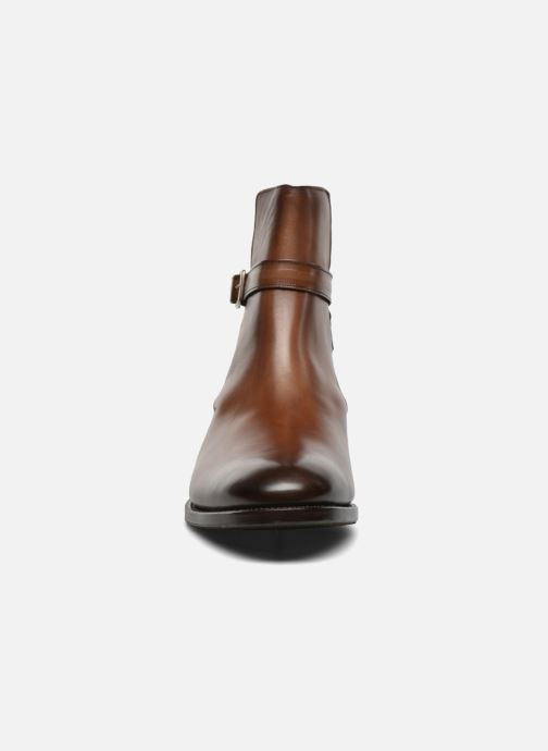Stivaletti e tronchetti Marvin&Co Luxe Wetrok - Cousu Goodyear Marrone modello indossato