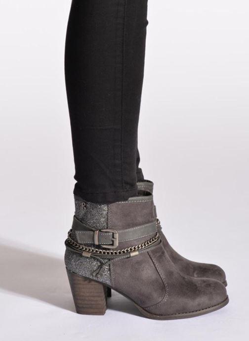 Stiefeletten & Boots Refresh Deborah-61181 grau ansicht von unten / tasche getragen