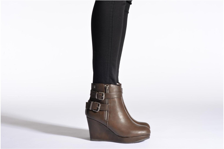 Bottines et boots Refresh Elfy-61110 Noir vue bas / vue portée sac
