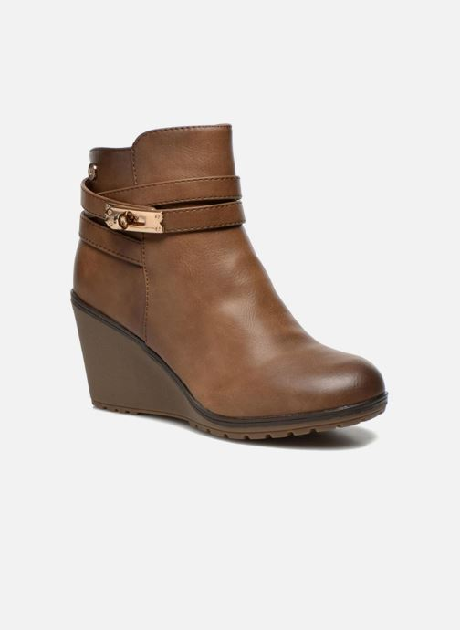 Ankle boots Xti Cornelie-28720 Brown detailed view/ Pair view