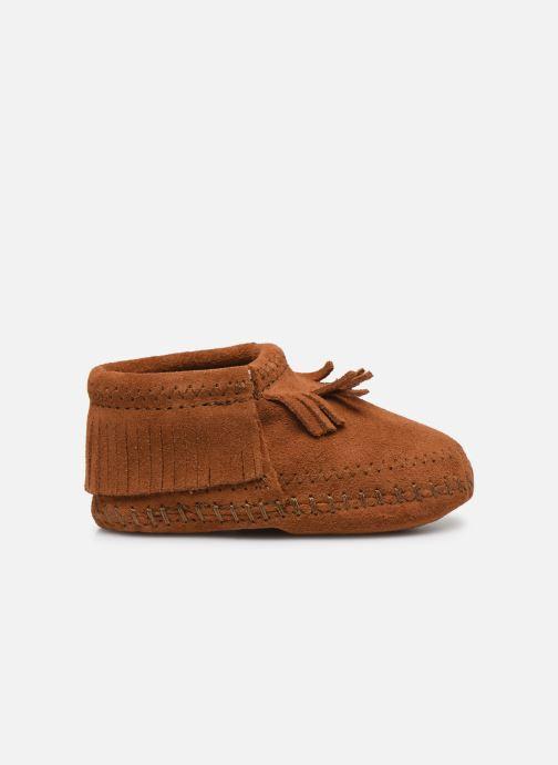 Pantofole Minnetonka Riley Bootie Marrone immagine posteriore
