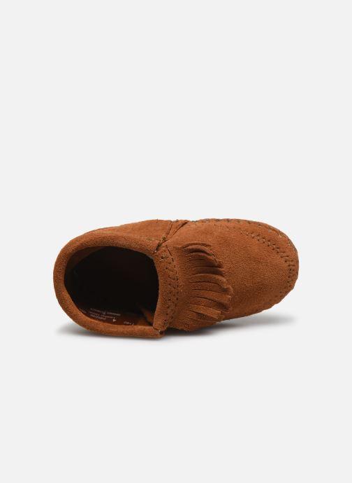 Pantofole Minnetonka Riley Bootie Marrone immagine sinistra