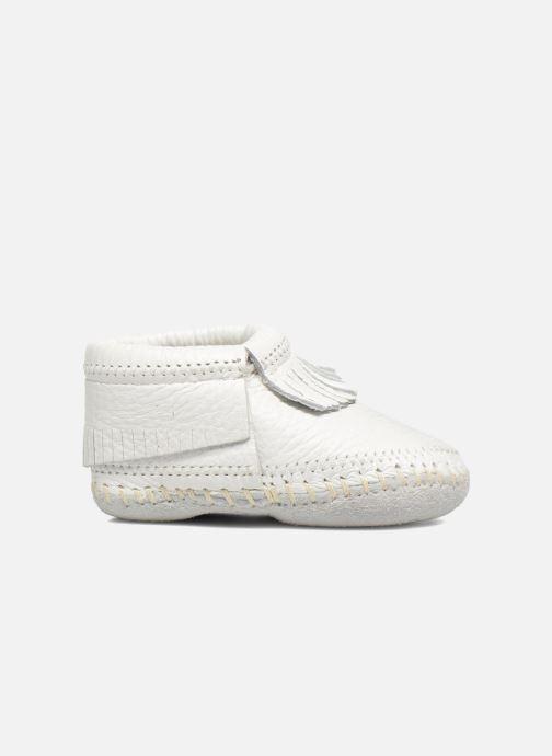 Pantofole Minnetonka Riley Bootie Bianco immagine posteriore