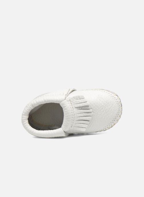 Pantofole Minnetonka Riley Bootie Bianco immagine sinistra