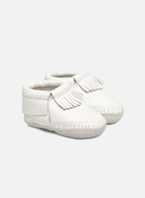Pantofole Minnetonka Riley Bootie Bianco vedi dettaglio/paio