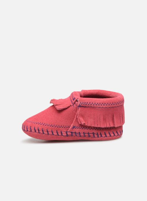 Pantofole Minnetonka Riley Bootie Rosa immagine frontale