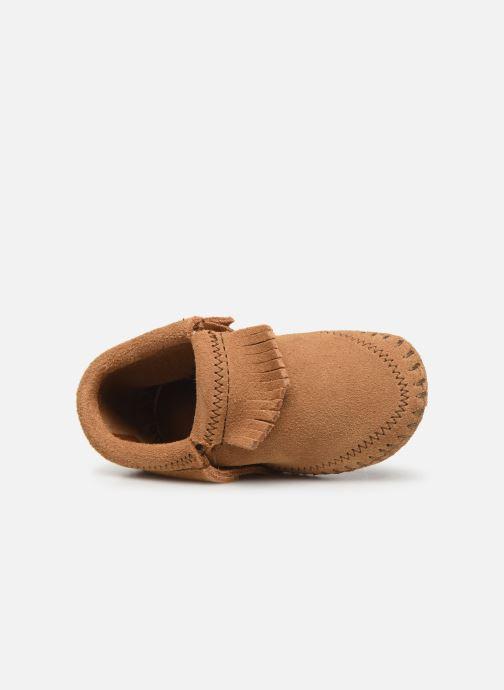 Pantofole Minnetonka Riley Bootie Giallo immagine sinistra