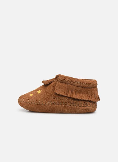 Pantofole Minnetonka Riley Bootie Marrone immagine frontale