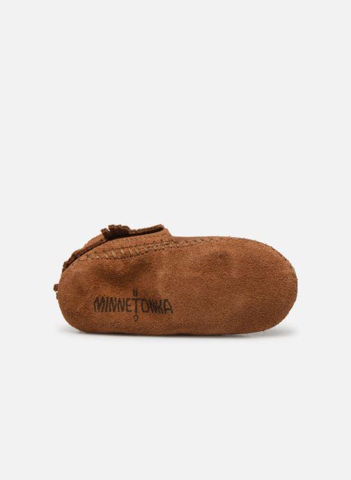 Pantofole Minnetonka Riley Bootie Marrone immagine dall'alto