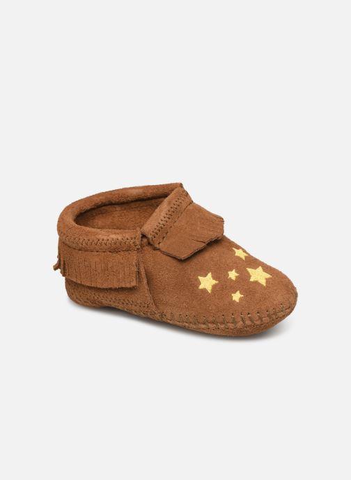 Hjemmesko Minnetonka Riley Bootie Brun detaljeret billede af skoene