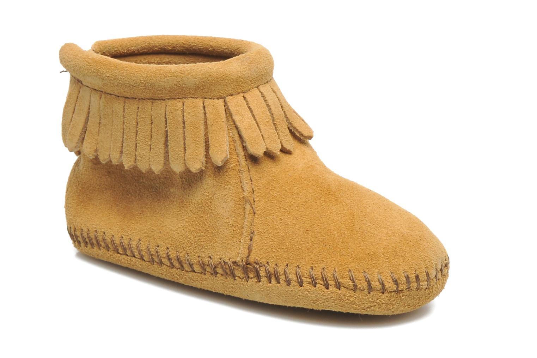 støvler Tilbud Dame Minnetonka Short Sheepskin Pug Boot Grå