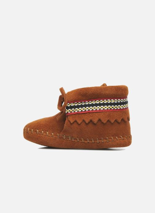 Chaussons Minnetonka Braid Bootie Marron vue face