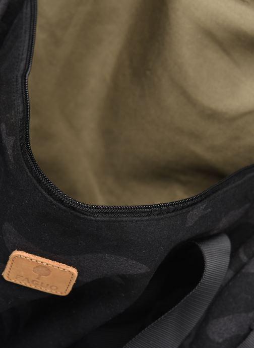 Herrentaschen Faguo Duffle Wool grün ansicht von hinten