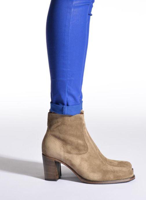 Stiefeletten & Boots Free Lance Legend 7 low zip boot beige ansicht von unten / tasche getragen