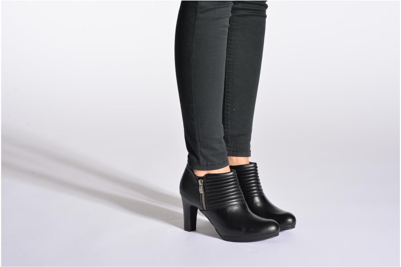 Bottines et boots Divine Factory Tissa Noir vue bas / vue portée sac
