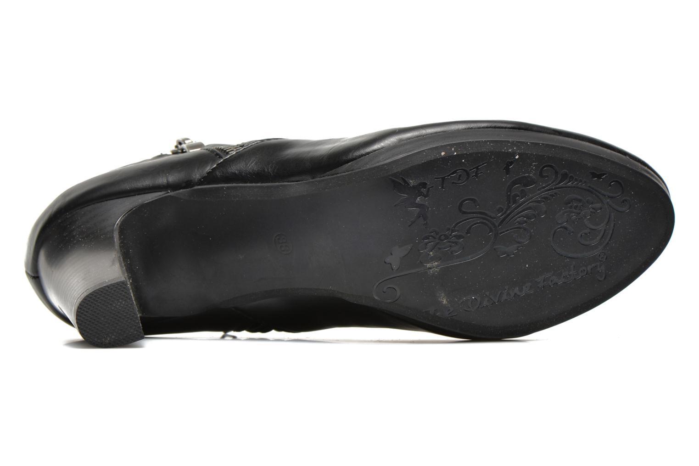Bottines et boots Divine Factory Tissa Noir vue haut
