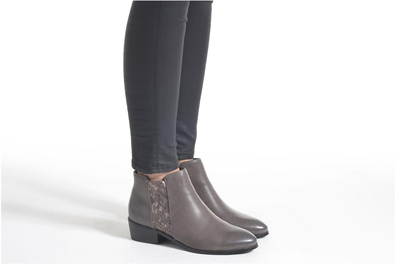 Bottines et boots Divine Factory Statch Noir vue bas / vue portée sac