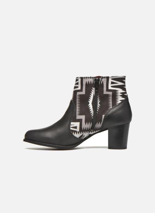 Boots en enkellaarsjes Desigual Cris Zwart voorkant