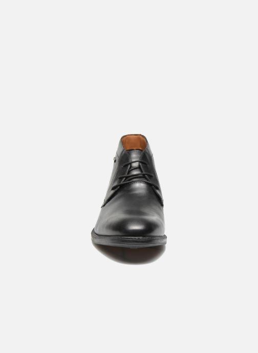 Schnürschuhe Clarks Chilver Hi GTX schwarz schuhe getragen