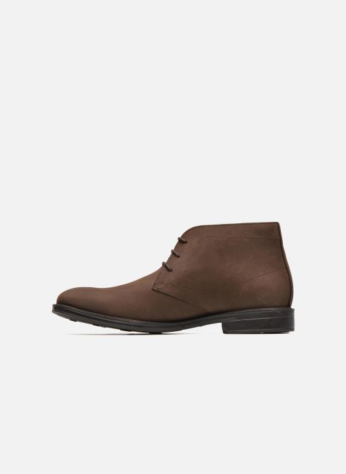 Lace-up shoes Clarks Chilver Hi GTX Brown front view
