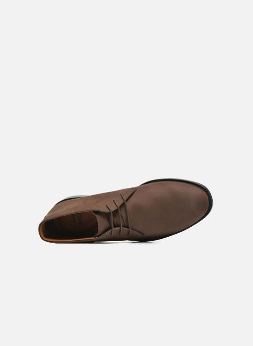 Lace-up shoes Clarks Chilver Hi GTX Brown view from the left