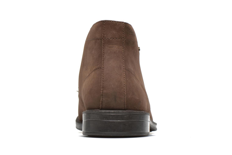 Chaussures à lacets Clarks Chilver Hi GTX Marron vue droite